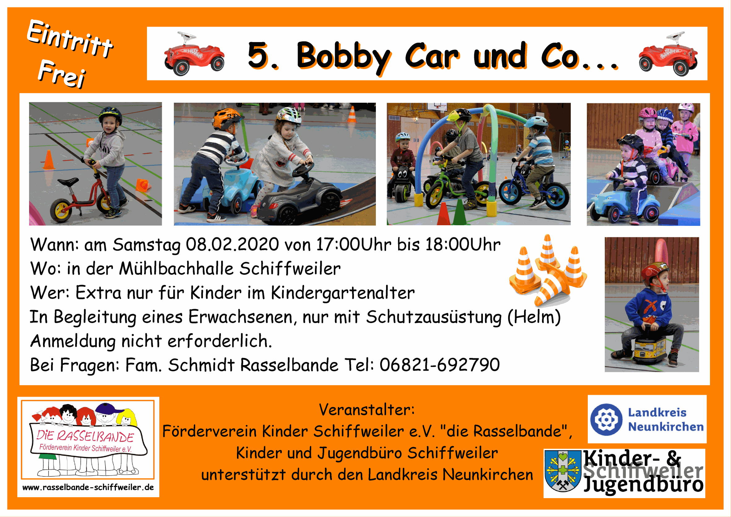 Plakat Bobby Car und co 08.02.2020